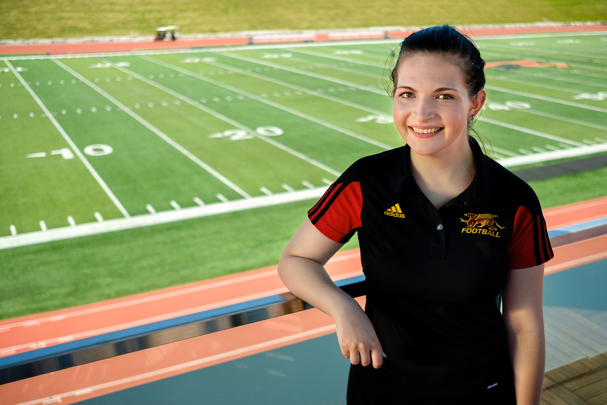 On-Campus Employment - Student working at the University of Guelph in Athletics