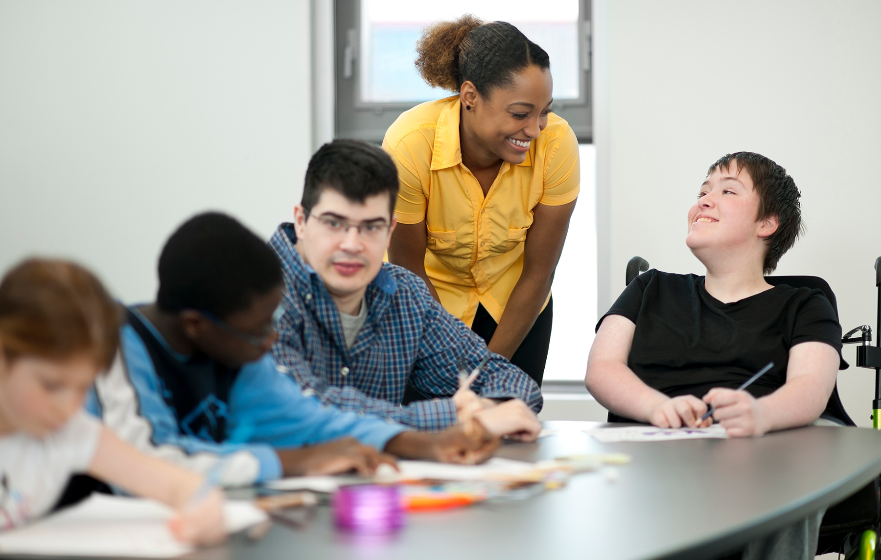 Course-Integrated Learning - Student working in the community with disabled youth